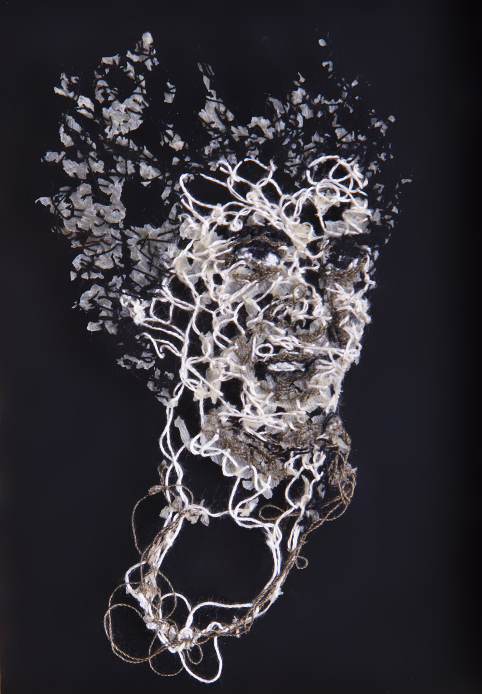 Abuela Fina A flor de piel, 13. 10x15 cm. Fotografía, hilo y piel. 2013