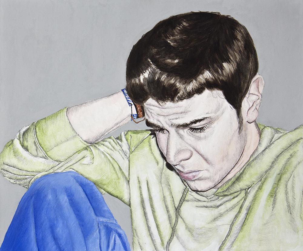 Llorones, 02. Técnica mixta sobre lienzo. 50 x 60 cm. 2008