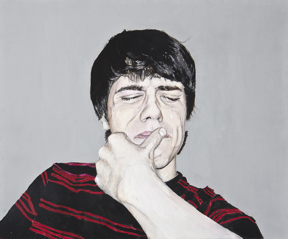 Llorones, 04. Técnica mixta sobre lienzo. 50 x 60 cm. 2008