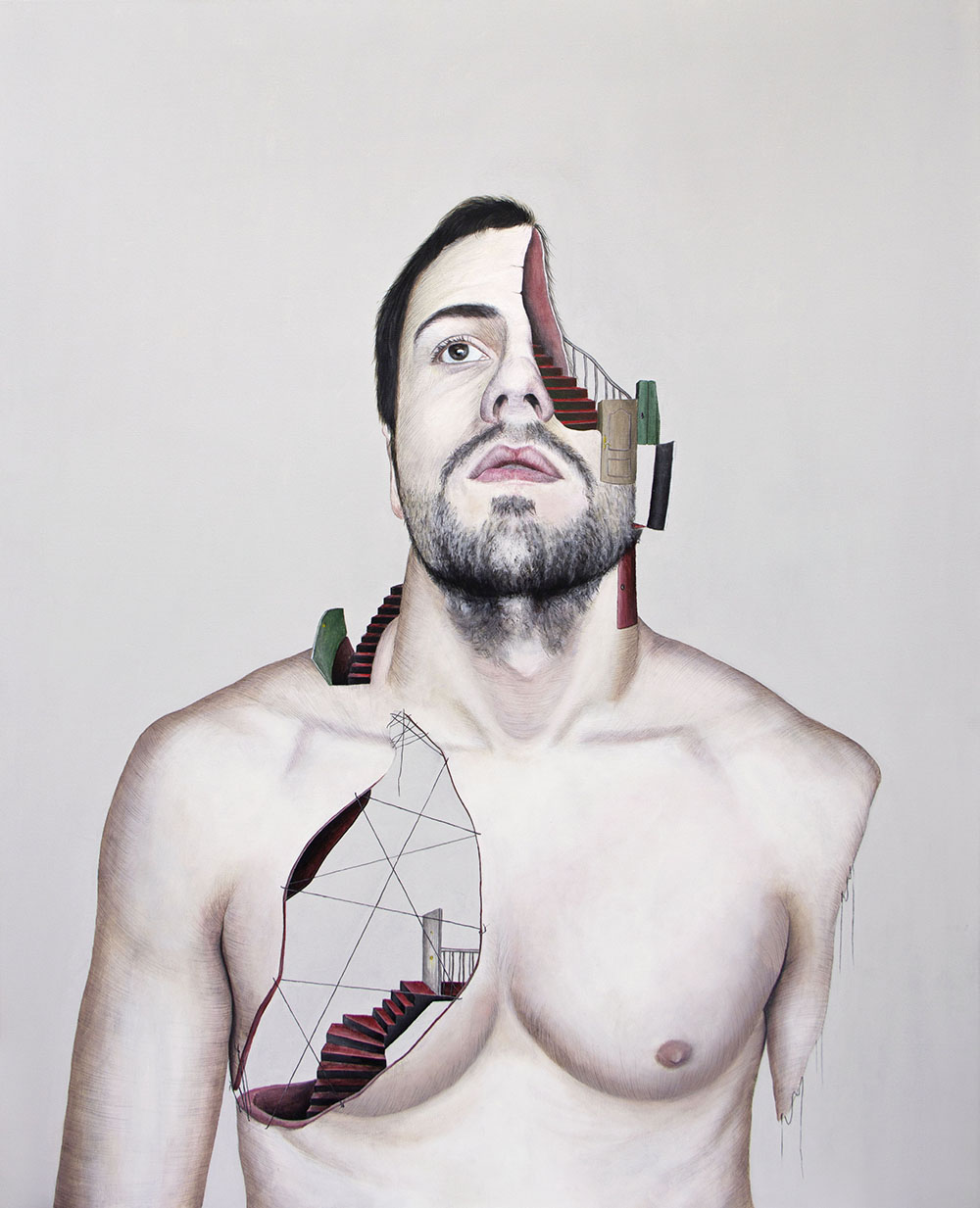 Secuelas, 01. Técnica mixta sobre lienzo. 100 x 81 cm. 2013