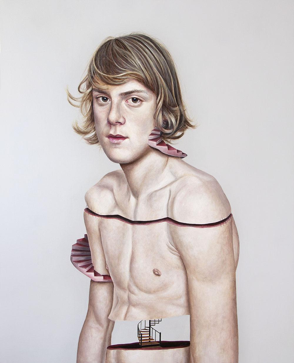 Secuelas, 02. Acrílico sobre lienzo. 125 x 100 cm. 2013